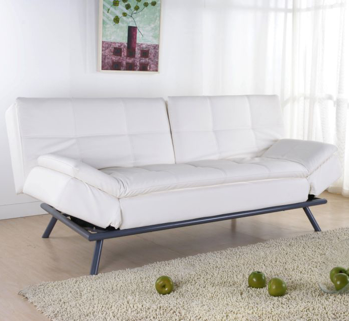 canape convertible cuir blanc